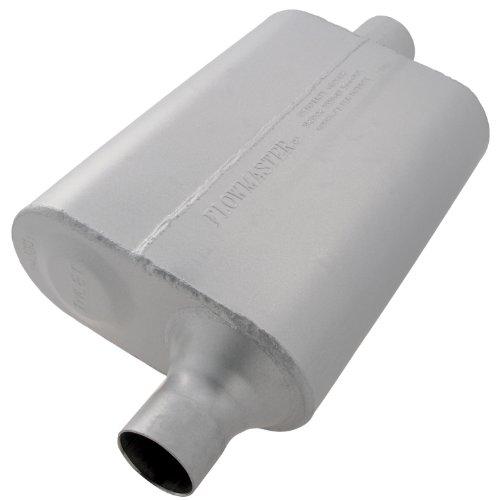 [Flowmaster 942041 40 Delta Flow Muffler - 2.00 Offset IN / 2.00 Center OUT - Aggressive Sound] (2005 Honda Civic Muffler)