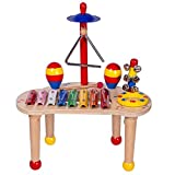 Musical Instruments 6-in-1 Toy Set for Children of All Ages from Jooni – Percussion Instrument Includes Xylophone, Maracas, Triangle, Drum, Bells & Cymbal. Help Foster Your Childs Creativity!