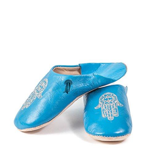 Marocaine Bleue Medina Souvenirs De Fatima Main Babouche WqwgWBUa40