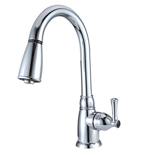 Dura Faucet Pull-Down Kitchen Faucet for RV's, Motorhomes, 5th Wheels, Travel Trailers, and Campers - Features Easy Installation (Chrome)