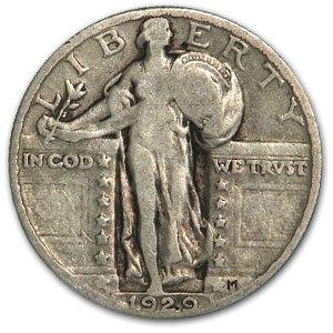 1929 Standing Liberty Quarter Fine Quarter Fine (Standing 1929 Quarter Liberty)