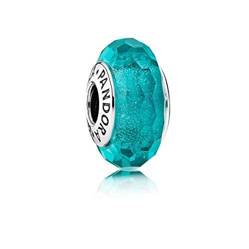 Pandora Teal Shimmer Charm, Murano Glass 791655 (Authentic Pandora Murano)