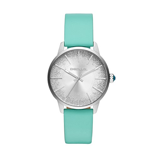 Diesel Women's 'Castilia' Quartz Stainless Steel and Leather Casual Watch, Color:Blue (Model: DZ5564)