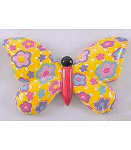 Mariposa Decorativa, realizada en Resina, para Decoración de Paredes. Diseño Floral, con Estilo Baby (8cm x 13cm) - Hogar y Más - D
