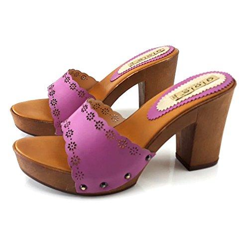 Zoccolo Kiara Tacco 14301 Shoes Fuxia Comodo 65nw5pUxqO