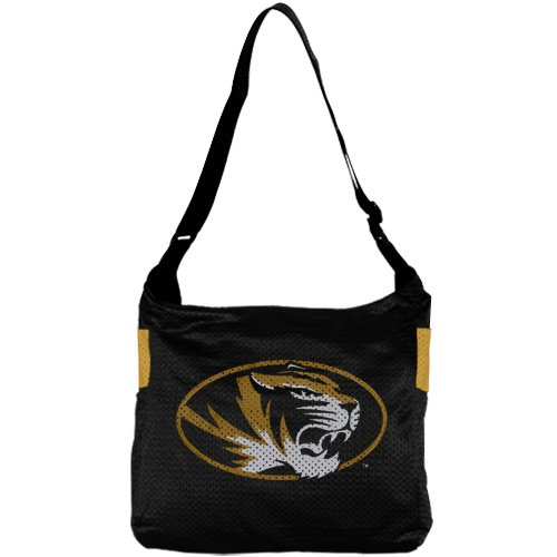 NCAA Missouri Tigers Ladies Black Veteran Jersey Tote Bag (Veteran Jersey Tote Bag)
