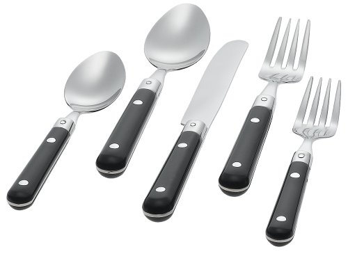 - Ginkgo International Le Prix 20-Piece Stainless Steel Flatware Place Setting, Black, Service for 4