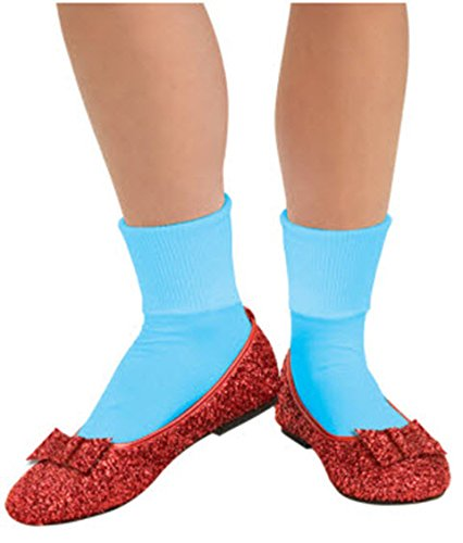 [Wizard Of Oz, Deluxe Adult Dorothy Sequin Shoes, Red, Large] (The Red Shoes Halloween Costume)