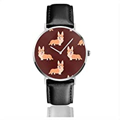 The watch that accentuates without over complicating. This lightweight, low profile timepiece finds the perfect balance of sleek and striking, without weighing down your wrist or emptying your wallet. The Microfiber PU leather leather strap h...