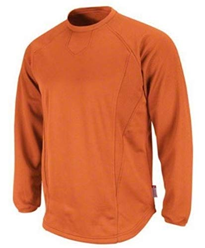(Majestic Men's Therma Base Pro Fleece LS Pullover Trainers Burnt Orange 3XL)