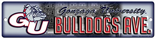 NCAA Gonzaga Bulldogs 16-Inch Plastic Street Sign Décor ()
