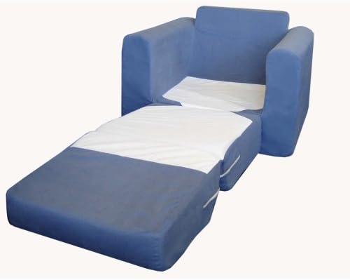 B0014XHGZE Fun Furnishings Chair Sleeper, Blue 419QB0w1c9L