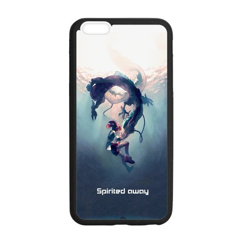 Fashion Spirited Away Anime Protective Hard TPU Rubber Coated Case Cover for iPhone 6 Plus 5.5 inch