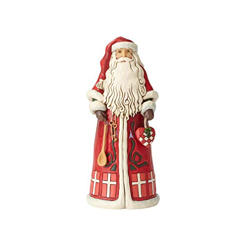- Enesco Jim Shore Heartwood Creek Danish Santa Around The World Figurine, 7