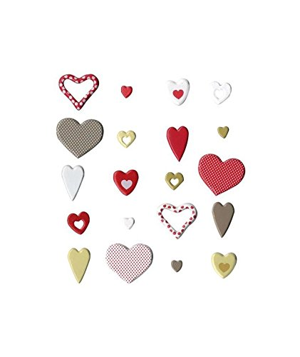 Artemio Love Set di 20 fermacampioni arabesco, Metallo, 9,5 x 1 x 13,8 cm 5x 1x 13 8cm Artémio 11060347