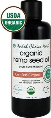 Herbal Choice Mari Organic Hemp Seed Oil 100ml/ 3.4oz Bottle