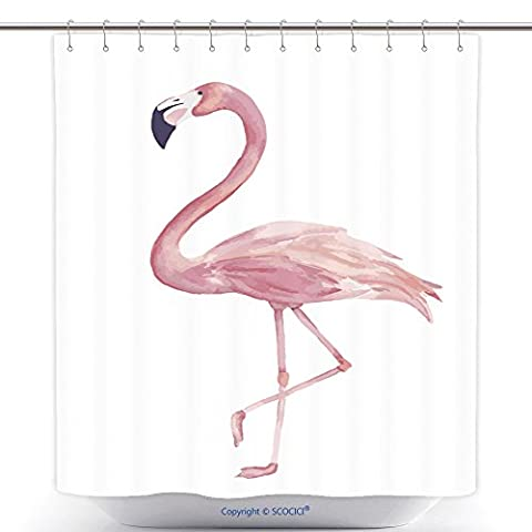 Stylish Shower Curtains Watercolor Exotic Flamingo Summer Decoration Print For Wrapping Wallpaper Fabric Card Vector 460747840 Polyester Bathroom Shower Curtain Set With - Madison Florals Wallpaper