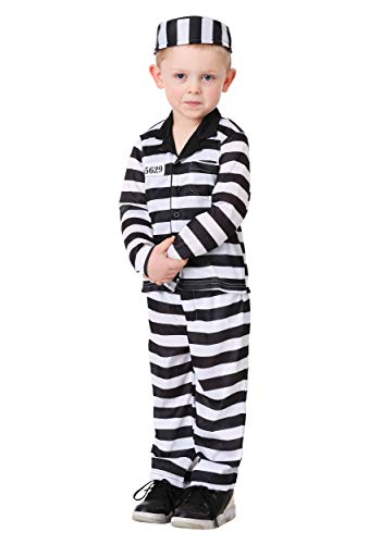 Toddler Boy's Jailbird Costume 4T Black]()