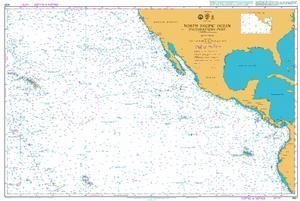 Ba Chart 4051  North Pacific Ocean South Eastern Anteil by United Kingdom Hydrographic Office