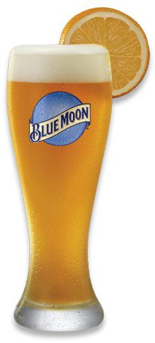 Blue Moon XL 23 Oz Wheat Beer Glass | Set of 2 Bar Edition Glasses (Blue Moon)