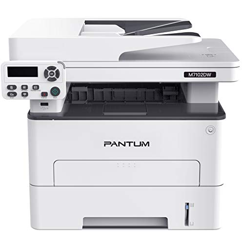 Pantum M7102DW Monochrome Laser Multifunction Printer with Copier Scanner, High Print and...