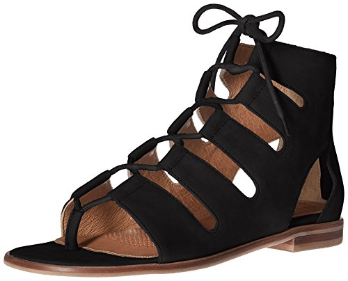 Black Nubuck Como Flat Women's Sandal Corso Sunrise zFUqFR