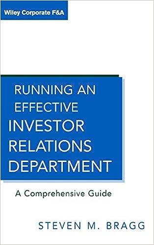 Amazon com: Running an Effective Investor Relations