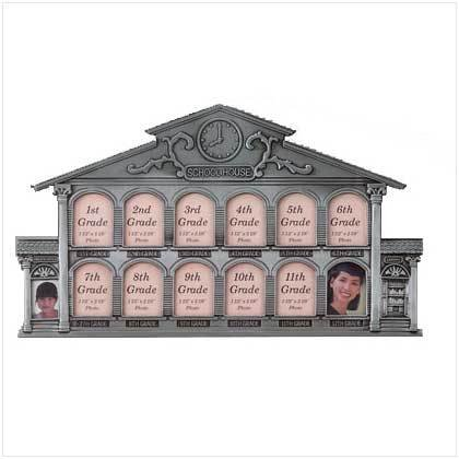 Smart Living Pewter School House 13-Photo Frame [Office Product] ()