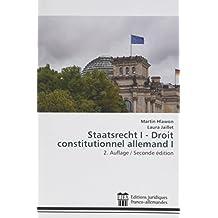 STAATSRECHT DROIT CONSTITUTIONNEL ALLEMAND