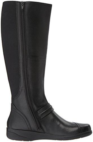 31KO0wqlgAL CLARKS Women's Cheyn Whisk Riding Boot, Black, 6 M US