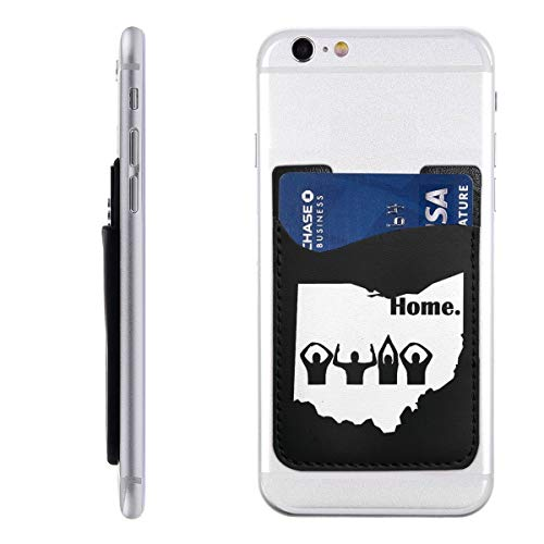Ohio Home State Silicone 3M Adhesive Stick-on ID Credit Card Wallet Phone Case Pouch Sleeve Pocket (Ipod Touch 5 Cases Ohio State)