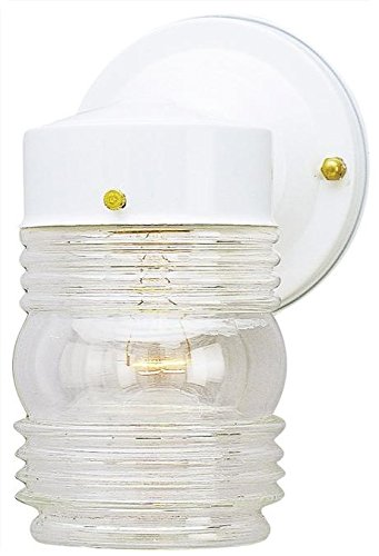 - Jelly Jar Outdoor Downlight, (White)