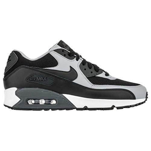 NIKE Men's Air Max 90 Essential Black/Black/Wolf Grey/Anthrct Running Shoe 9.5