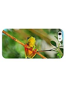 3d Full Wrap Case for iPhone 5/5s Animal Cute Little Frog On The Tree hjbrhga1544