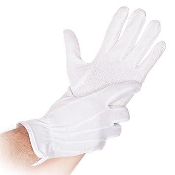 a20072f97bcacd Farbe:weiß Top-Arbeitshandschuhe mit PVC Noppen atmungsaktiv  Premium-Baumwollhanschuhe Größe:M Franz Mensch