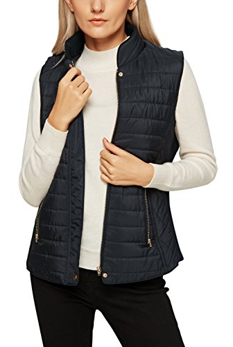 Urban CoCo Women's Quilted Vest Jacket Zip Up Padded Slim Fi