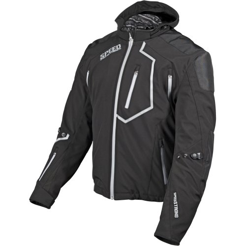 Speed and Strength Speed Strong Men's Textile Street Racing Motorcycle Jacket - Black / Large