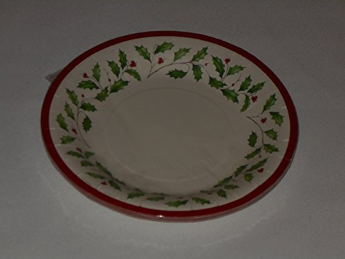 Lenox Holly Coated Paper Luncheon Dessert Plates 16 Count