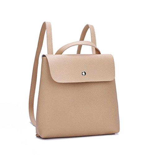Backpack Purse Handbags Women Soft Shoulder Ba Pure Bag Bag Khaki Fashion Mini Messenger Ladies Backpack Zha Color Girl Bags Satchels Zero Girls Leather Bag Travel School Fashion Bag Handle Bags wtfPqa