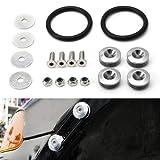 iJDMTOY Universal Fit Silver Finish JDM Quick Release Fastener Kit For Car Bumper Trunk Fender Hatch Lid