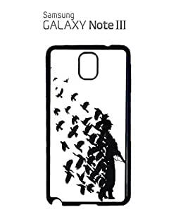 Banksy Soldier Peace Pigeons War Mobile Cell Phone Case Samsung Note 3 White by lolosakes
