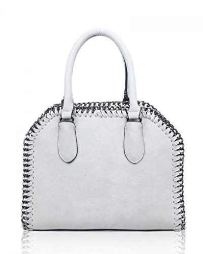 Trapezoid Bags Chain Purse College Girls Trim Handbag LeahWard Tote Grey Holiday School Matching Women's Bags For Ash Or wT5q40cIx0