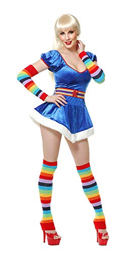 Charades Unisex-Adult's Rainbow Arm and Leg Warmers, One Size