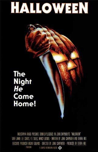 Halloween Movie Posters (Halloween Poster Movie (16 x 25 Inches - 40cm x 63cm) (1978) (Style D) Print Sticker Retro Unframed Wall Art)