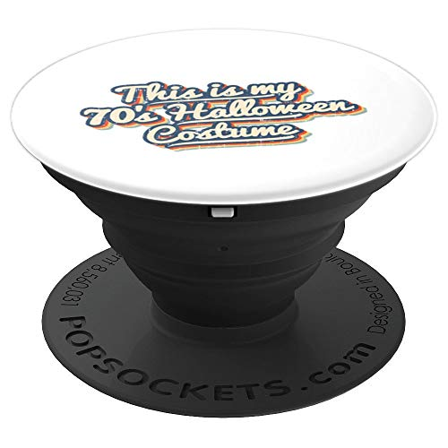 Retro This Is My 70's Halloween Costume Vintage Lazy Easy PopSockets Grip and Stand for Phones and ()