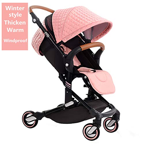 New Style—Babysing high Landscape Stroller Baby Stroller Four Seasons Universal Folding cart Baby Stroller I-Go (Pink Color)