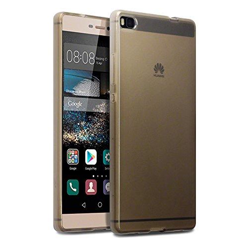 Huawei Ascend P8 Case, Terrapin [SLIM FIT] Huawei P8 Cover [Smoke Black] Premium Protective TPU Gel Case for Huawei Ascend P8 - Smoke Black
