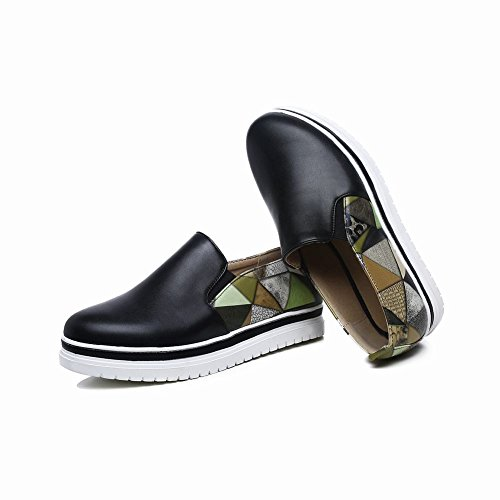 Charm Foot Womens Casual Multicolor Low Heel Loafers Shoes Black siPJQ
