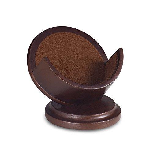 Cherry Pedestal Coaster Holder - Pedestal Wood Coaster Holders