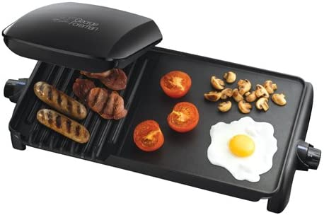 George Foreman 10-Portion Grill and Griddle (50/60 Hz) - Black ...